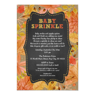 Rustic Fall Leaves Baby Sprinkle / baby shower Card