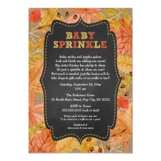 Rustic Fall Leaves Baby Sprinkle / baby shower Card