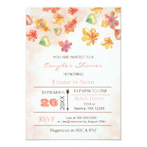 Rustic Fall Leaves Fall Bridal  Shower Invites