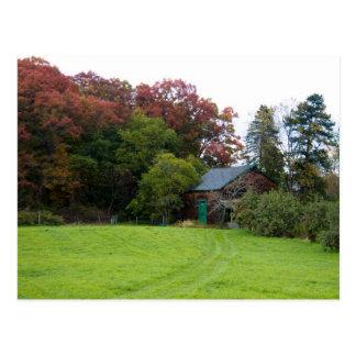 Rustic Fall Scene Postcard