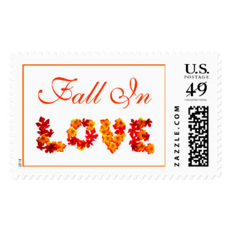 Rustic Fall Season Wedding Invitations Postage