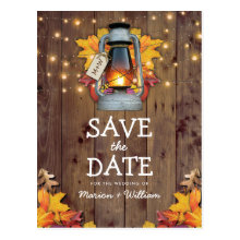 Rustic Fall String Lights Autumn Save the Date