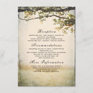 Rustic Fall Tree Branches Wedding Details Enclosure Card