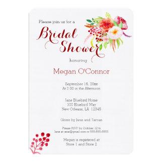 Rustic fall watercolor Bridal Shower Card
