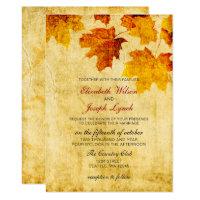 rustic fall wedding Invitation cards