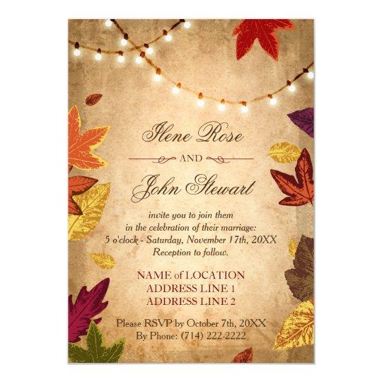 Fall Wedding Invitations: Rustic Fall Wedding Invitations Template