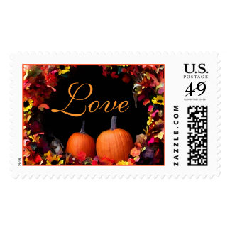 Rustic Fall Wedding Love Autumn Weddings Invite Postage Stamp