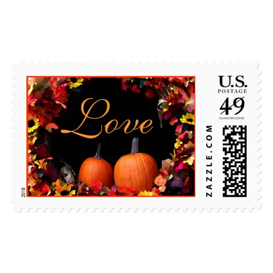Rustic Fall Wedding Love Autumn Weddings Invite Postage Stamp