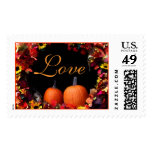 Rustic Fall Wedding Postage Stamp