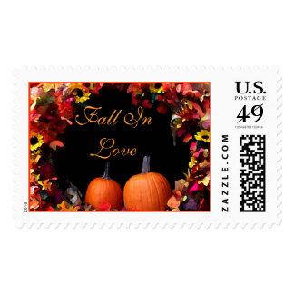 Rustic Fall Wedding Postage Stamp   Autumn Wedding