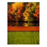Rustic Fall Wedding Postcard