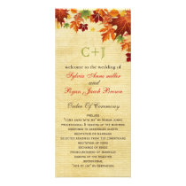 Rustic fall wedding programs tea length