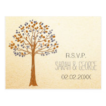 Rustic Fall Wedding rsvp card