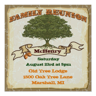Rustic Family Tree Reunion Invitation