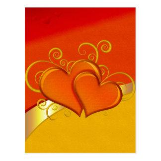 Rustic Fancy Hearts Postcard