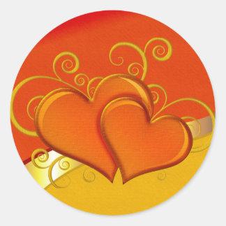 Rustic Fancy Hearts Stickers