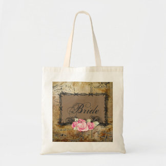 Rustic Farm Barbed Wire country bride Budget Tote Bag