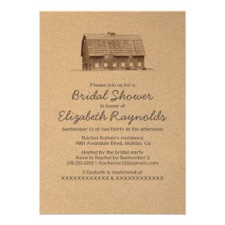 Rustic Farm Bridal Shower Invitations Invitation
