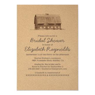 Rustic Farm Bridal Shower Invitations
