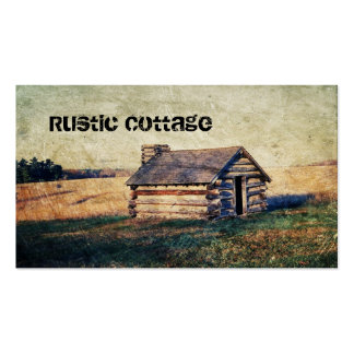 rustic farm country cottage landscape Double-Sided standard business cards (Pack of 100)