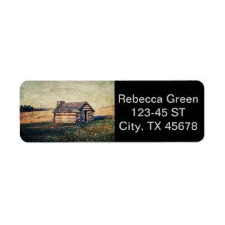 rustic farm country cottage landscape return address labels
