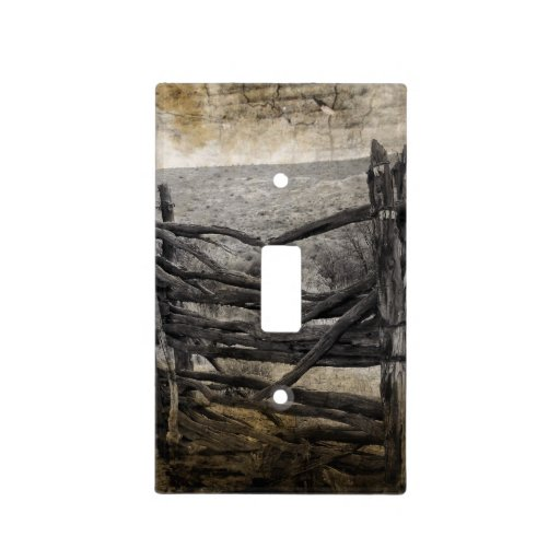 Rustic Farm Fence Western Country Landscape Light Switch