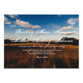 Rustic Farm Hay Bales Country Wedding Invitations 4.5