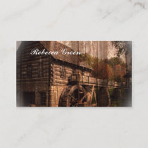 rustic farm old barn country mill wedding business card