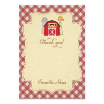 Rustic Farm Thank You Card