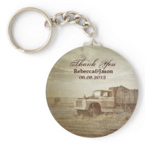 Rustic Farm Truck Western Country Wedding favor Keychain