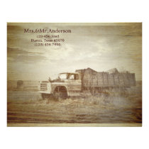 Rustic Farm Truck Western Country Wedding Letterhead