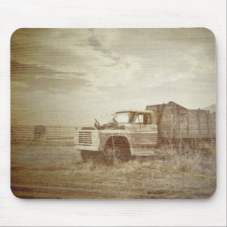 Rustic Farm Truck Western Country Wedding Mouse Pad