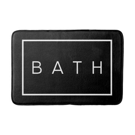 Rustic Farmhouse Chic Black White Bath Mat