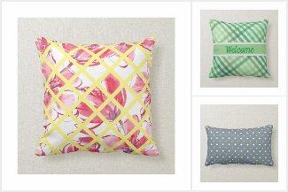 Rustic, farmhouse, cottage cotton fabric pillows