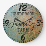 Rustic Farmhouse Distressed Antique Family Large Clock
