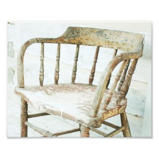 Rustic Farmhouse Spindle Chair Photo Print