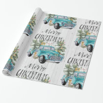 Rustic Farmhouse Truck Christmas Wrapping Paper