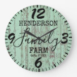 Rustic Farmhouse Vintage Wooden Distressed Family Large Clock