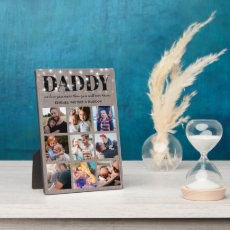 Rustic Father's Day 9 Photo Plaque