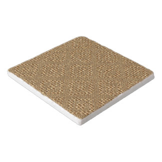 Rustic Faux Burlap Argyle Squares Pattern Trivet