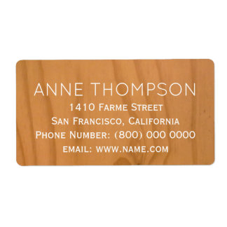rustic faux clear wood with name label