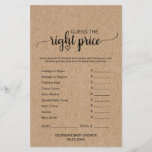 """Rustic Faux Kraft Calligraphy What&#39;s In Your Phone<br><div class=""""desc"""">This rustic faux kraft calligraphy &quot;what&#39;s in your phone&quot; game is perfect for a country baby shower. The front of the game card features &quot;guess the right price&quot;, and the back of the card features &quot;what&#39;s in your phone&quot;. The minimal design features an lovely modern font and a heart on...</div>"""
