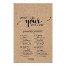 Rustic Faux Kraft Calligraphy What's In Your Phone Flyer
