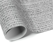 Rustic Faux Light Gray Burlap Texture Wrapping Paper