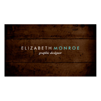 Rustic Faux Wood Double-Sided Standard Business Cards (Pack Of 100)