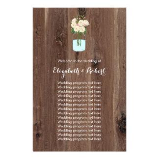 Rustic Faux Wood with Flower Mason Jar Flyer