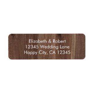 Rustic Faux Wood with Flower Mason Jar Label