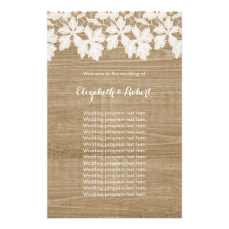 Rustic Faux Wood with Lace Flyer