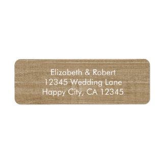 Rustic Faux Wood with Lace Label