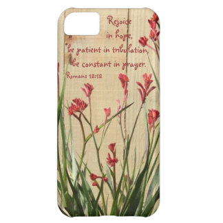 Rustic Fence Bible Verse about Hope Romans 12 12 iPhone 5C Case